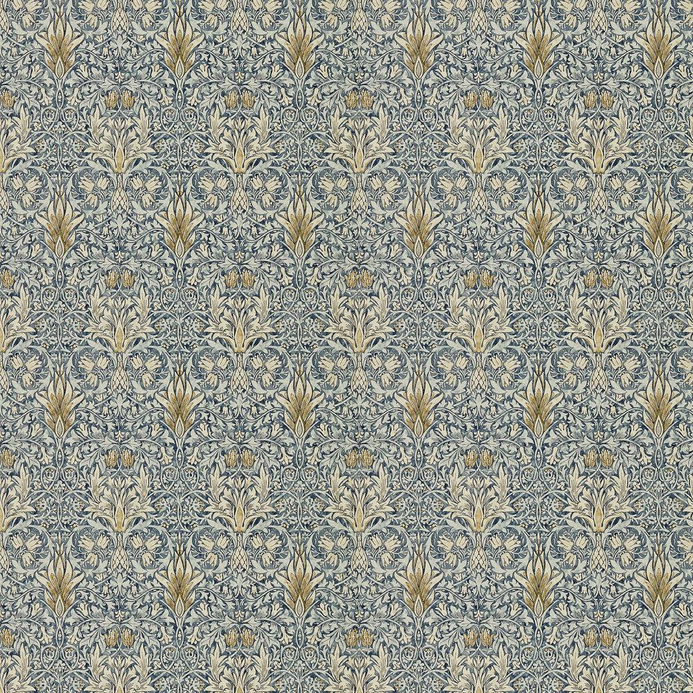 Morris Snakeshead Indigo / Cumin Wallpaper - Product code: 216428