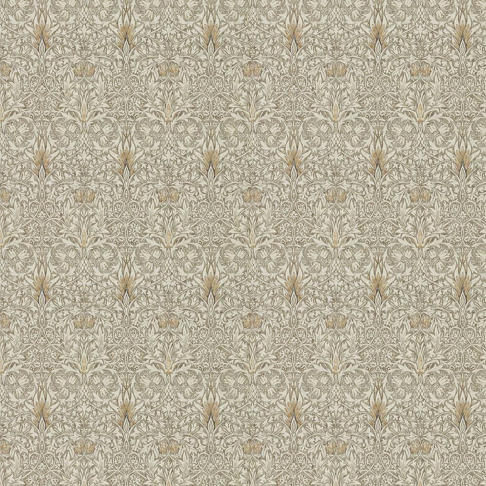 Snakeshead Wallpaper - Stone / Cream - by Morris