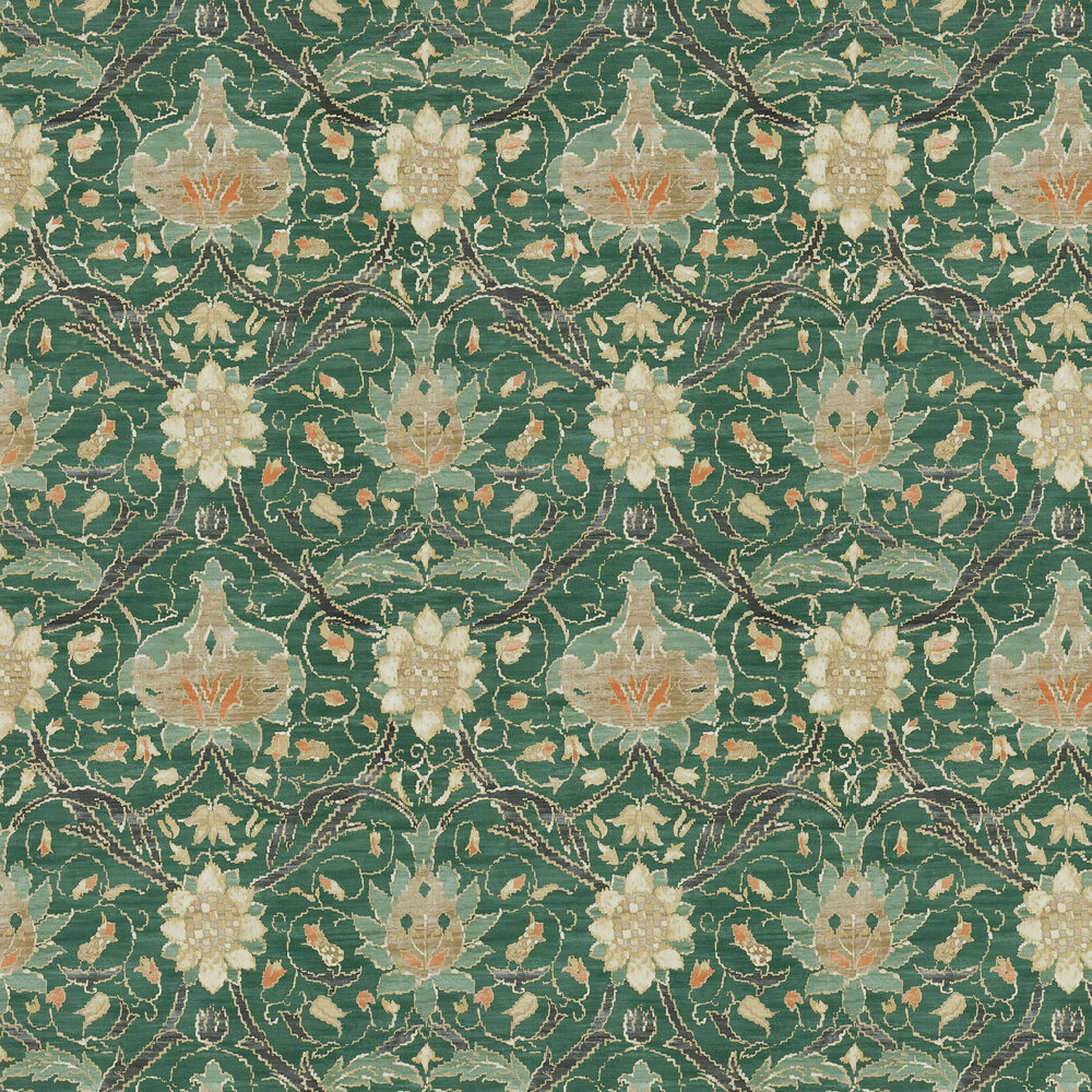 Morris Montreal Forest / Teal Wallpaper - Product code: 216432