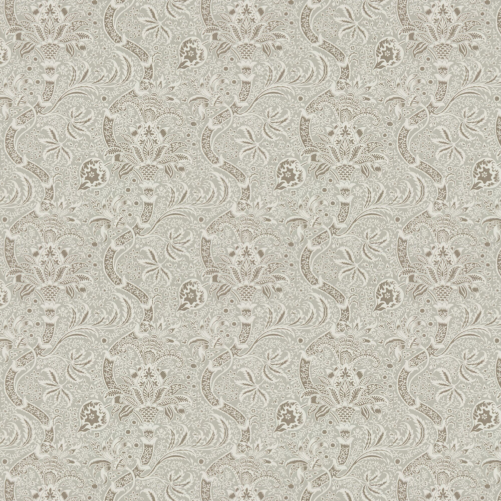 Indian Wallpaper - Grey / Pewter - by Morris