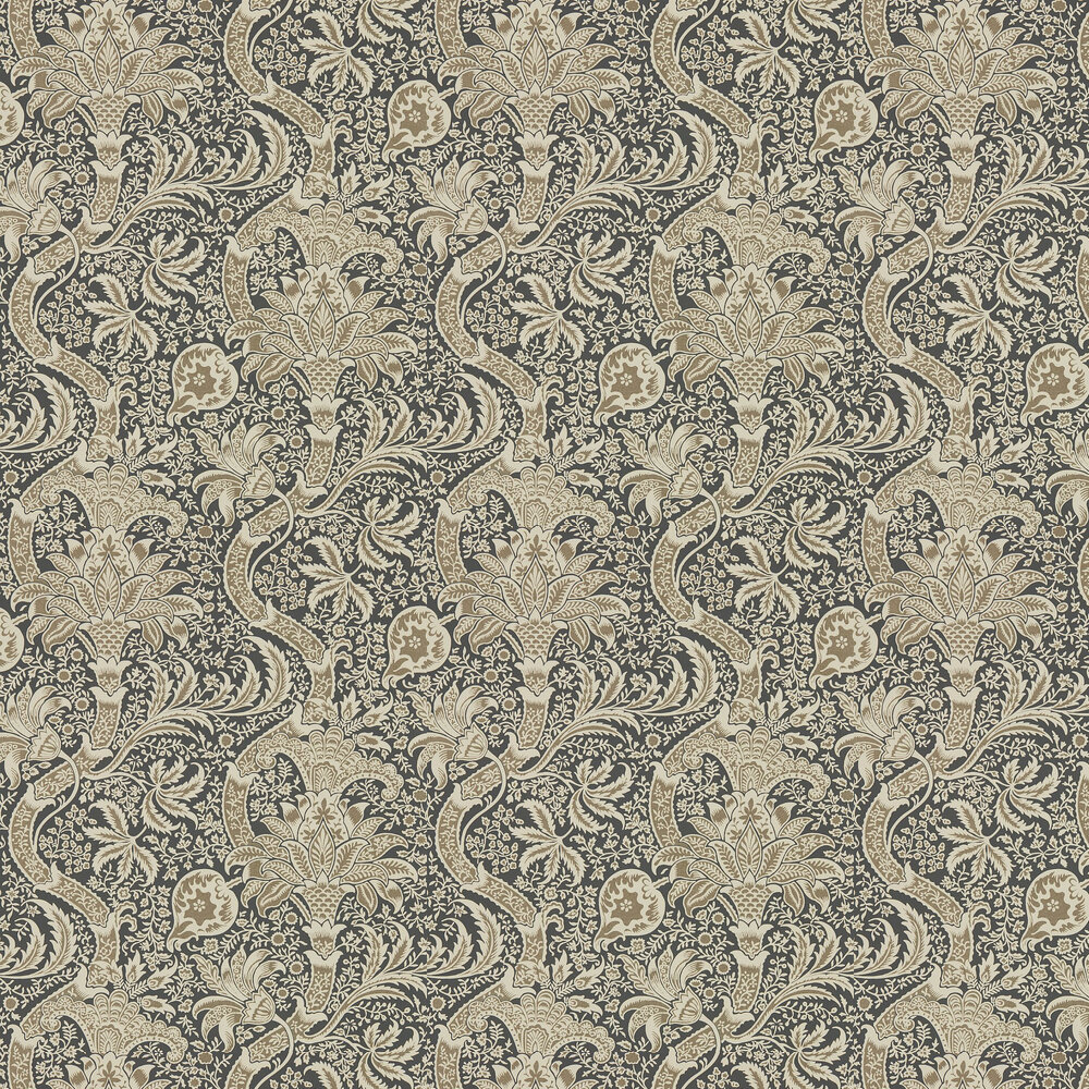 Morris Indian Charcoal / Nickel Wallpaper - Product code: 216445