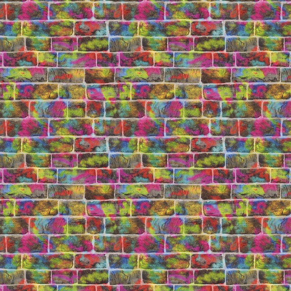 Spray Wall Wallpaper - Multicoloured  - by Albany