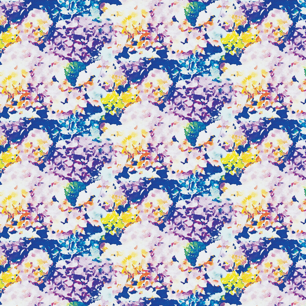Holcombe Wallpaper - Blue / Purple - by Aire