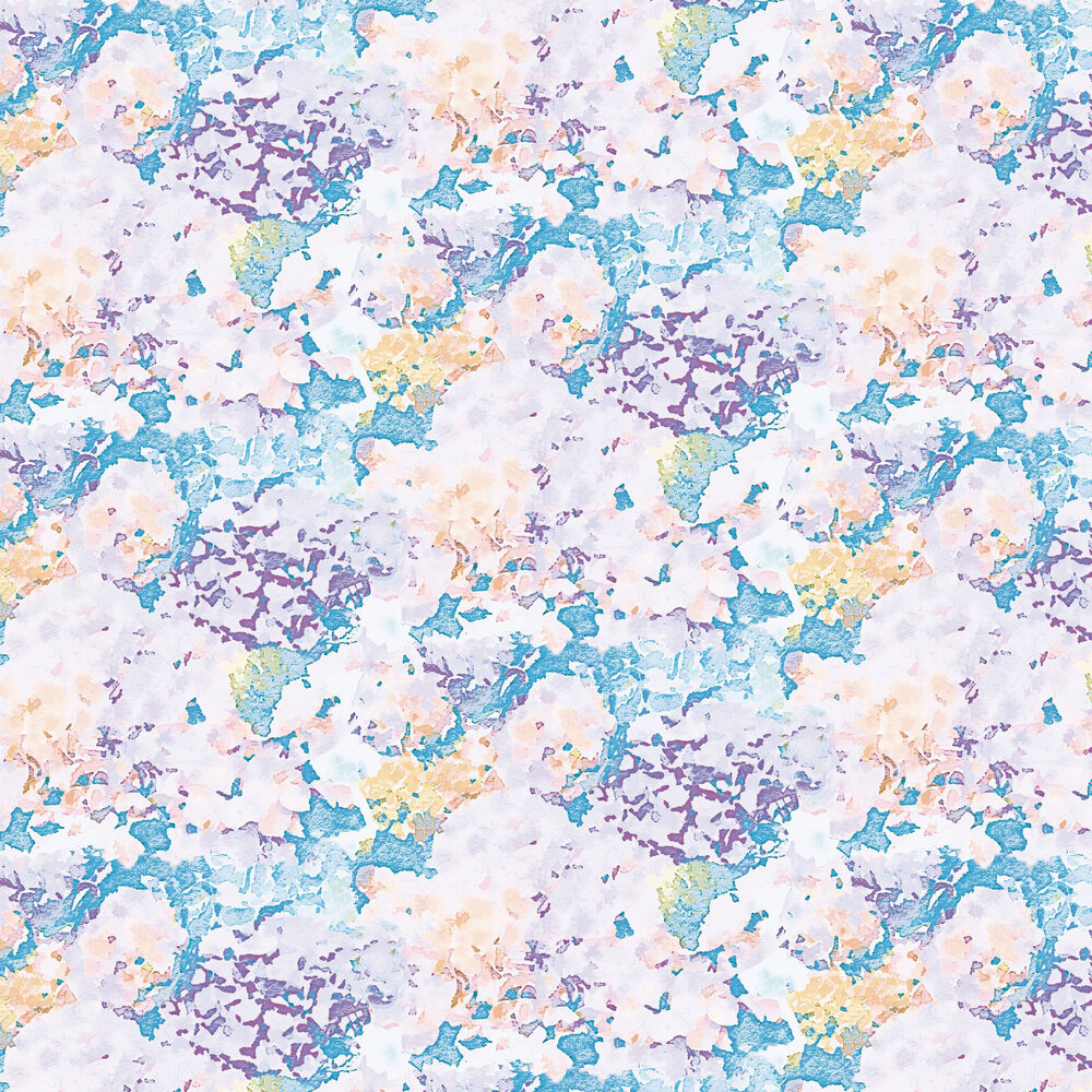 Holcombe Wallpaper - Blue / Purple foil - by Aire