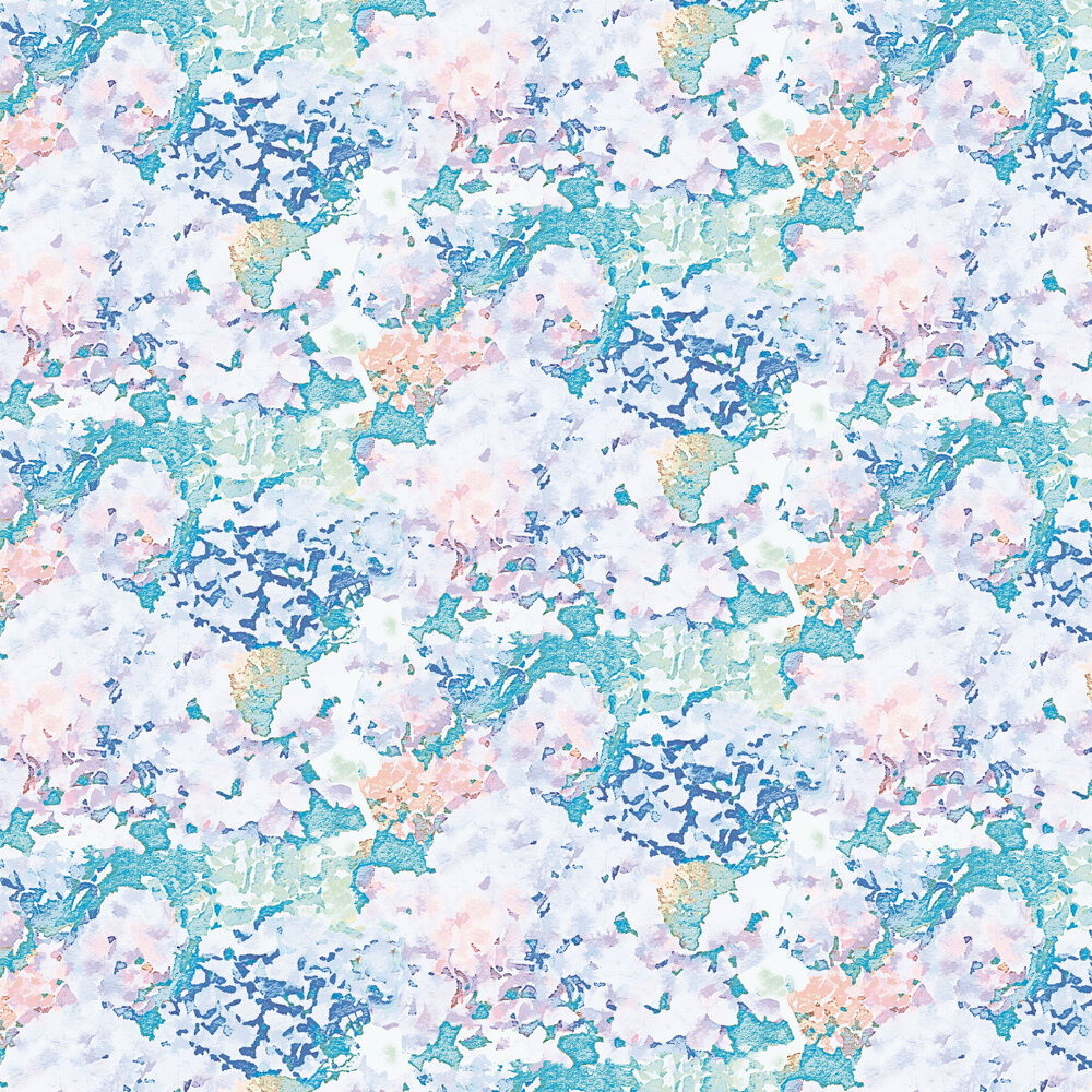 Holcombe Wallpaper - Teal / Lilac - by Aire