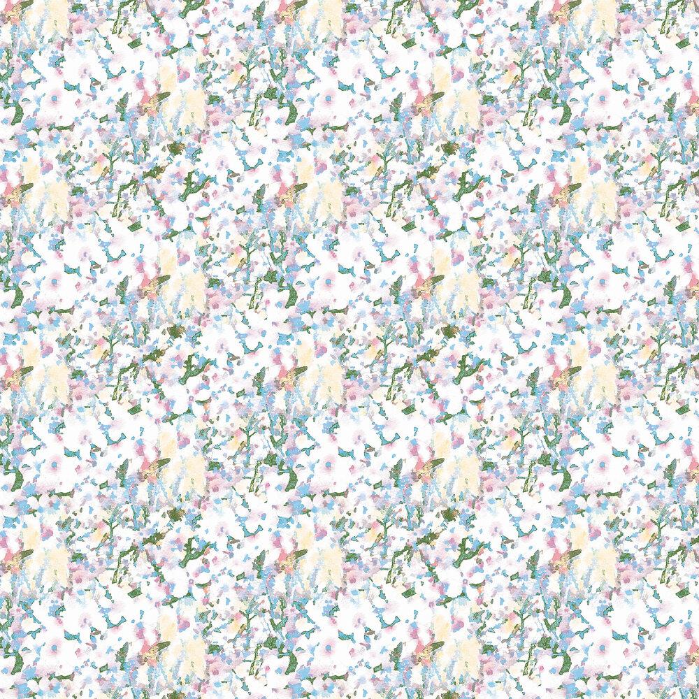 Mellor Wallpaper - Blue / Pink foil - by Aire