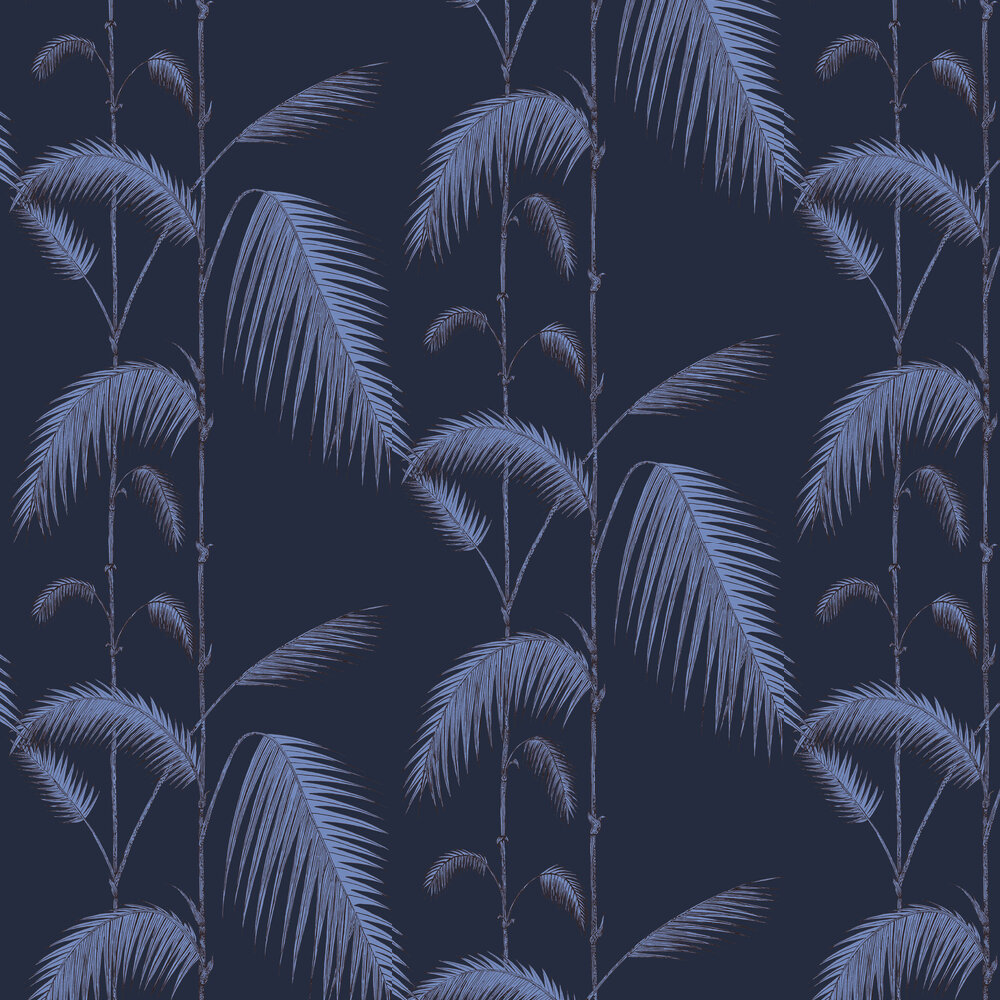 Palm Leaves Wallpaper - Ink and Violet - by Cole & Son