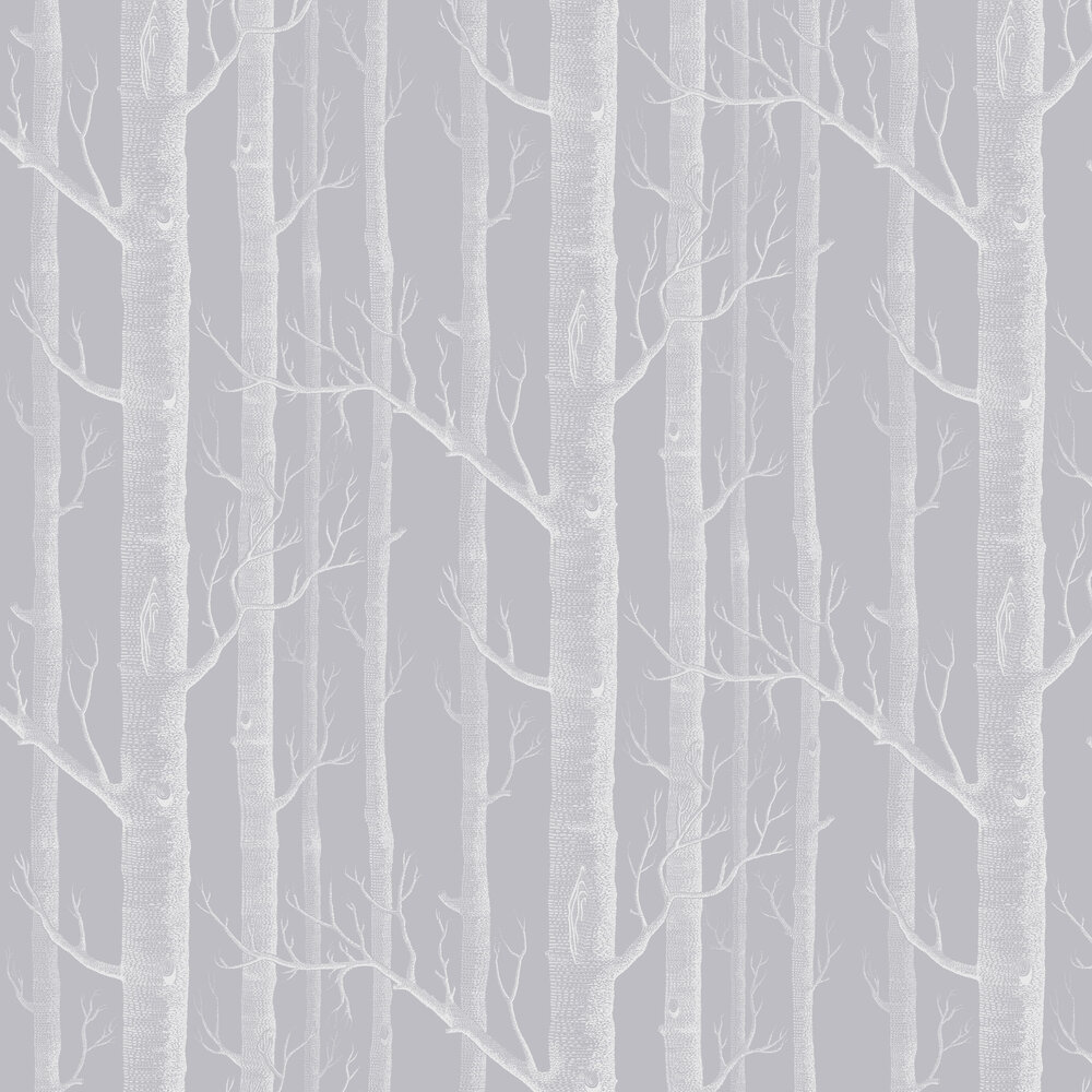 Woods Wallpaper - Grey and White - by Cole & Son