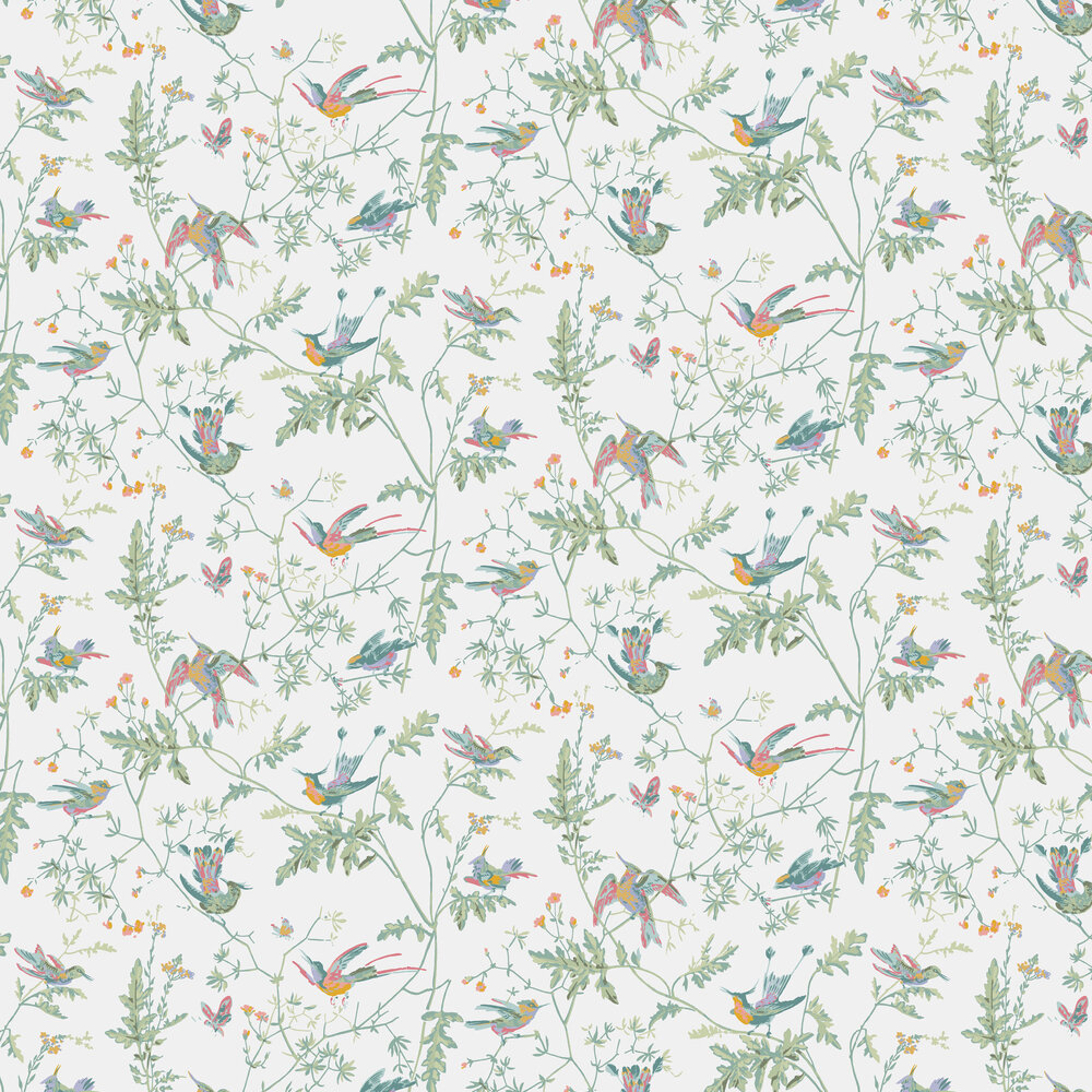 Hummingbirds Wallpaper - Pastel - by Cole & Son