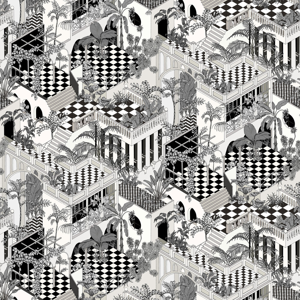 Cole & Son Miami Soot and Snow Wallpaper - Product code: 112/6024