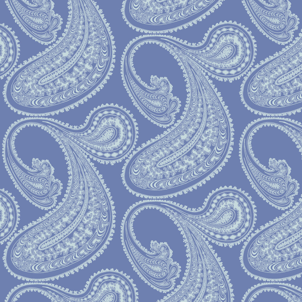 Cole & Son Rajapur Flock Hyacinth Wallpaper - Product code: 112/9032