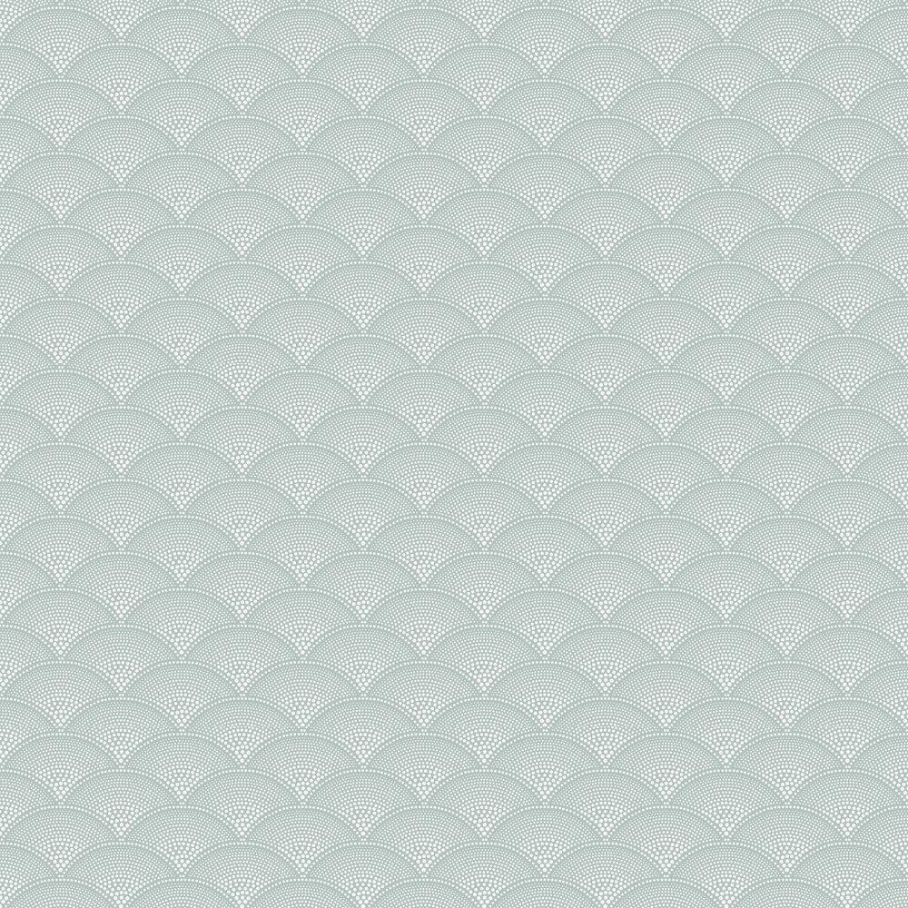 Feather Fan Wallpaper - Seafoam - by Cole & Son