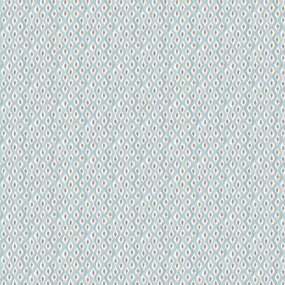 Nina Campbell Beau Rivage Duck Egg / Taupe Wallpaper - Product code: NCW4301/01