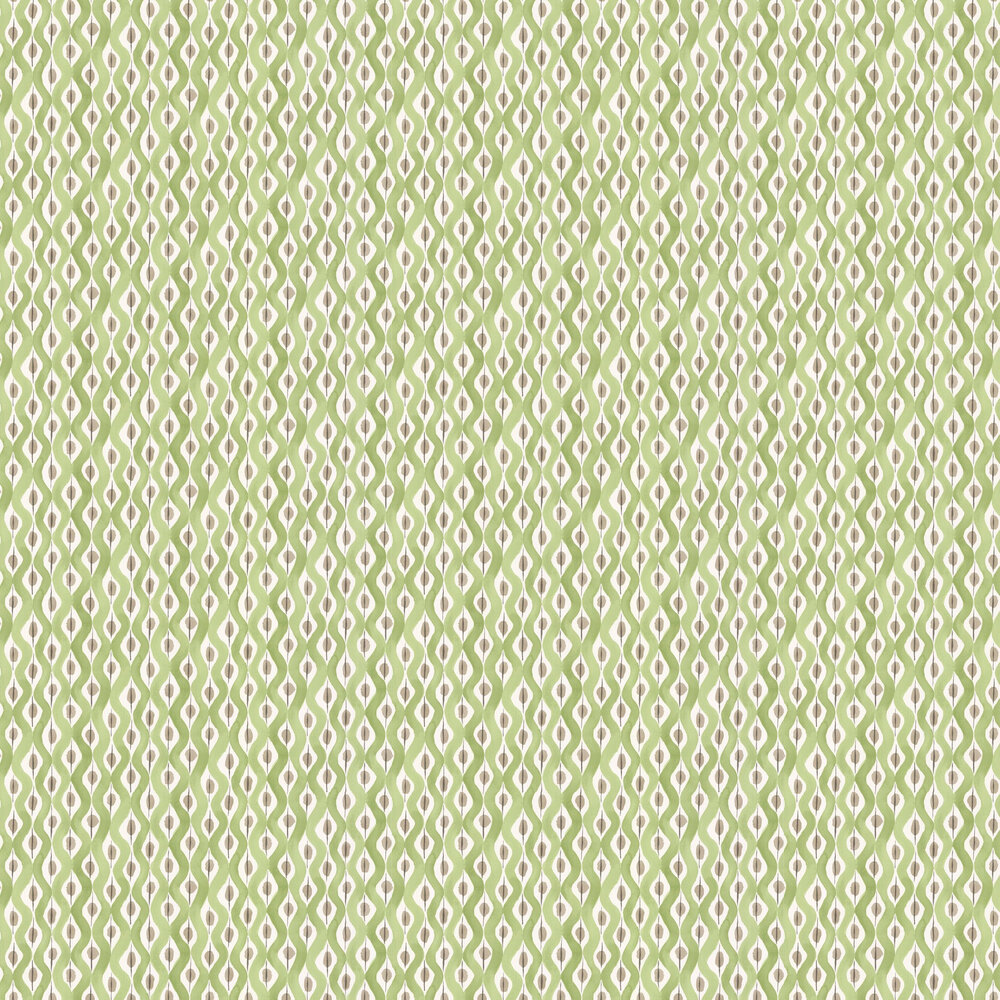 Nina Campbell Beau Rivage Green / Beige Wallpaper - Product code: NCW4301/05