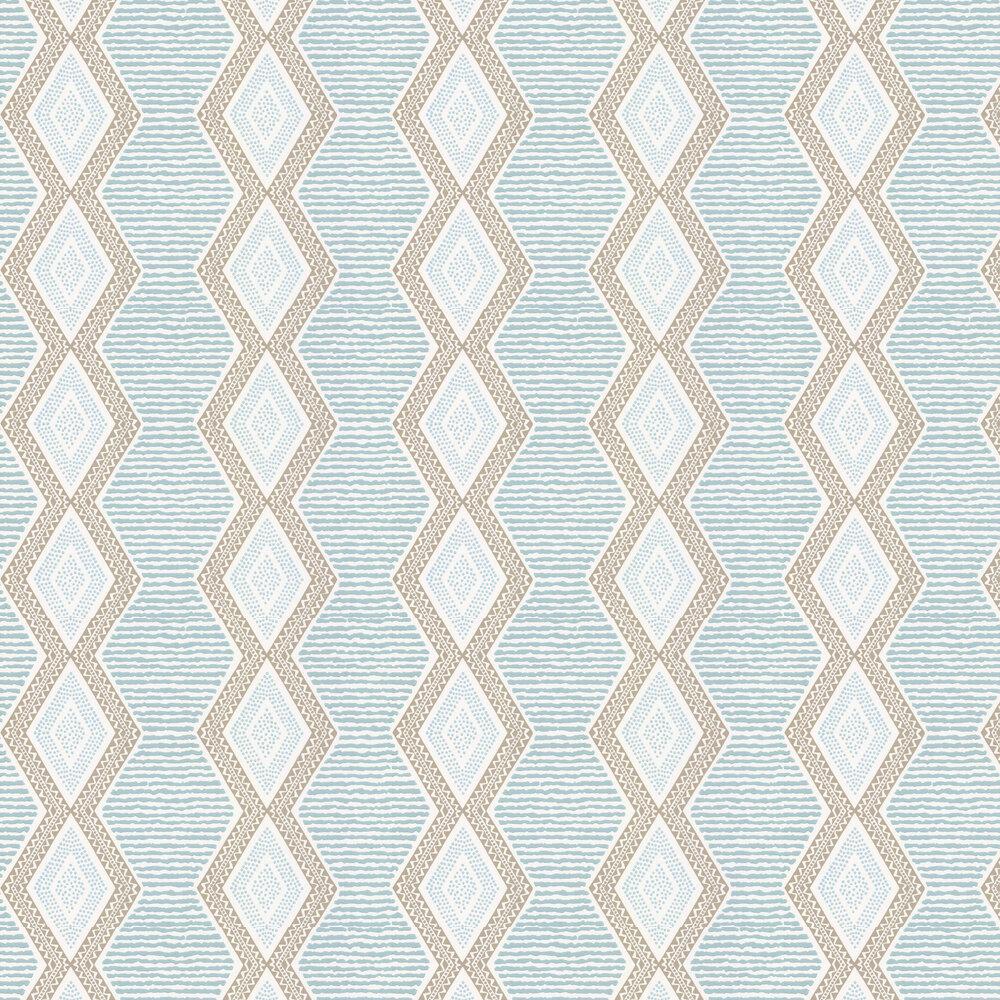 Nina Campbell Belle Ile Aqua / Beige Wallpaper - Product code: NCW4306/04