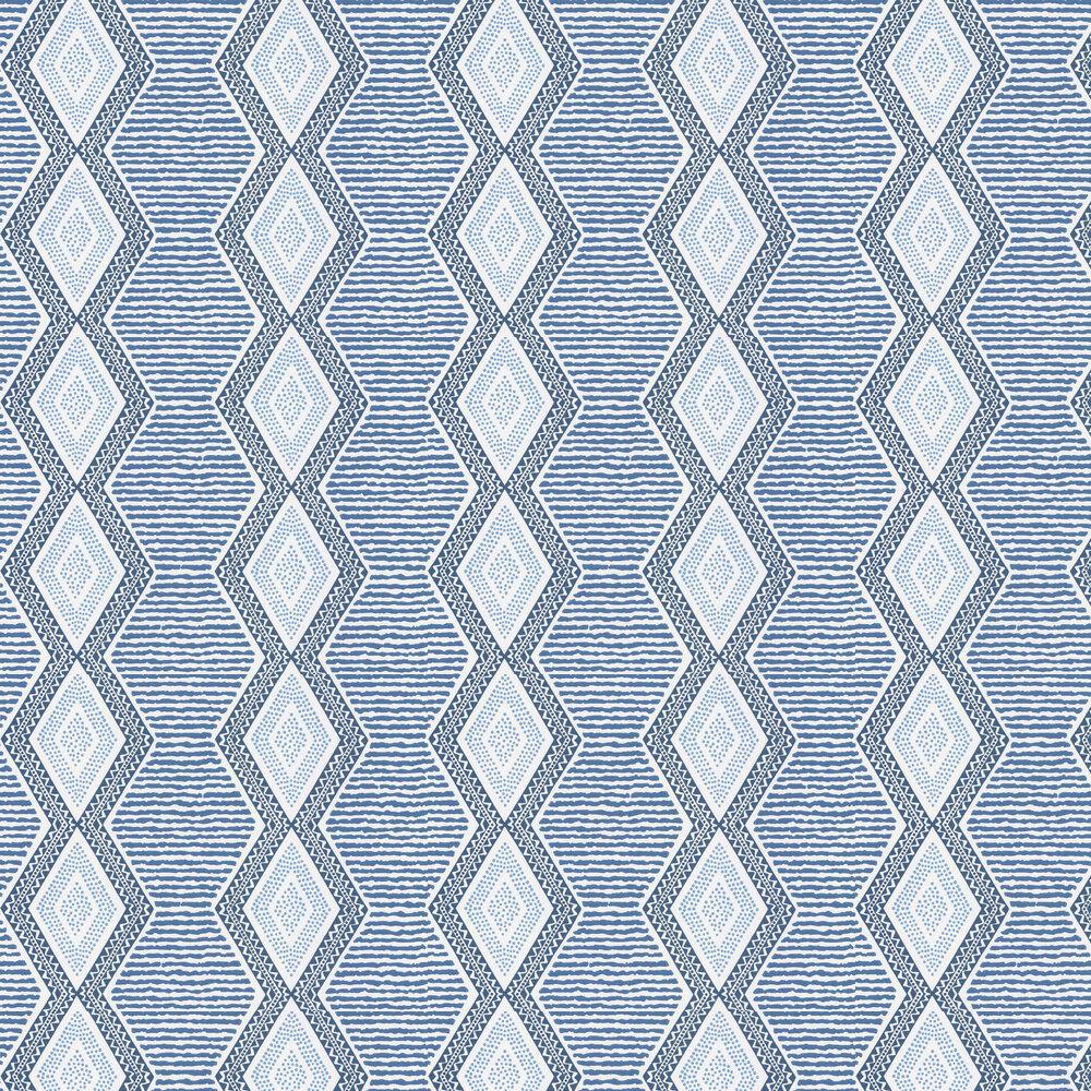 Nina Campbell Belle Ile Indigo / Blue Wallpaper - Product code: NCW4306/05