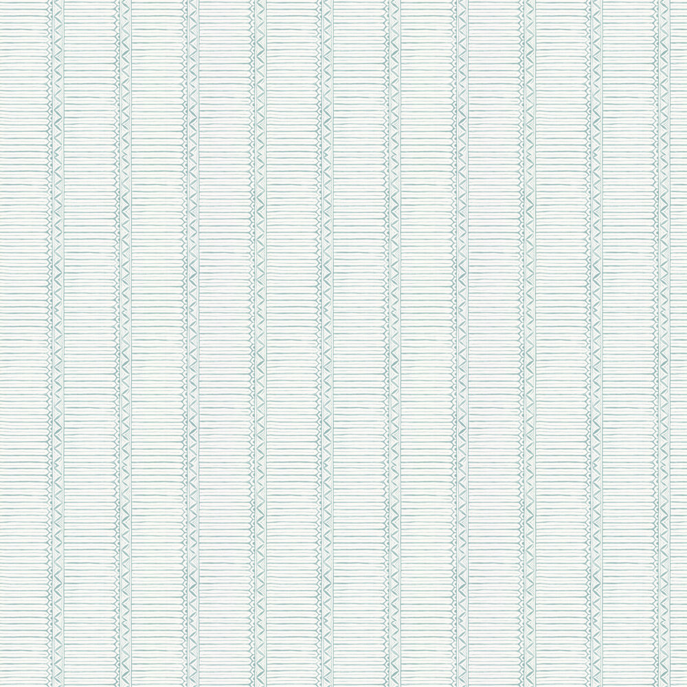 Domiers Wallpaper - Aqua / Ivory - by Nina Campbell