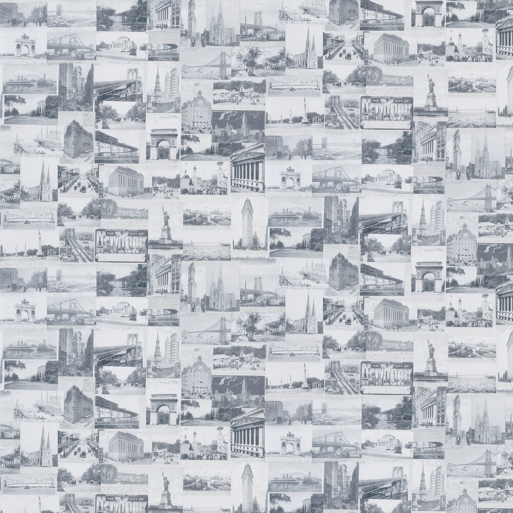 Ralph Lauren New York Postcard Black and White Wallpaper - Product code: PRL5000/05
