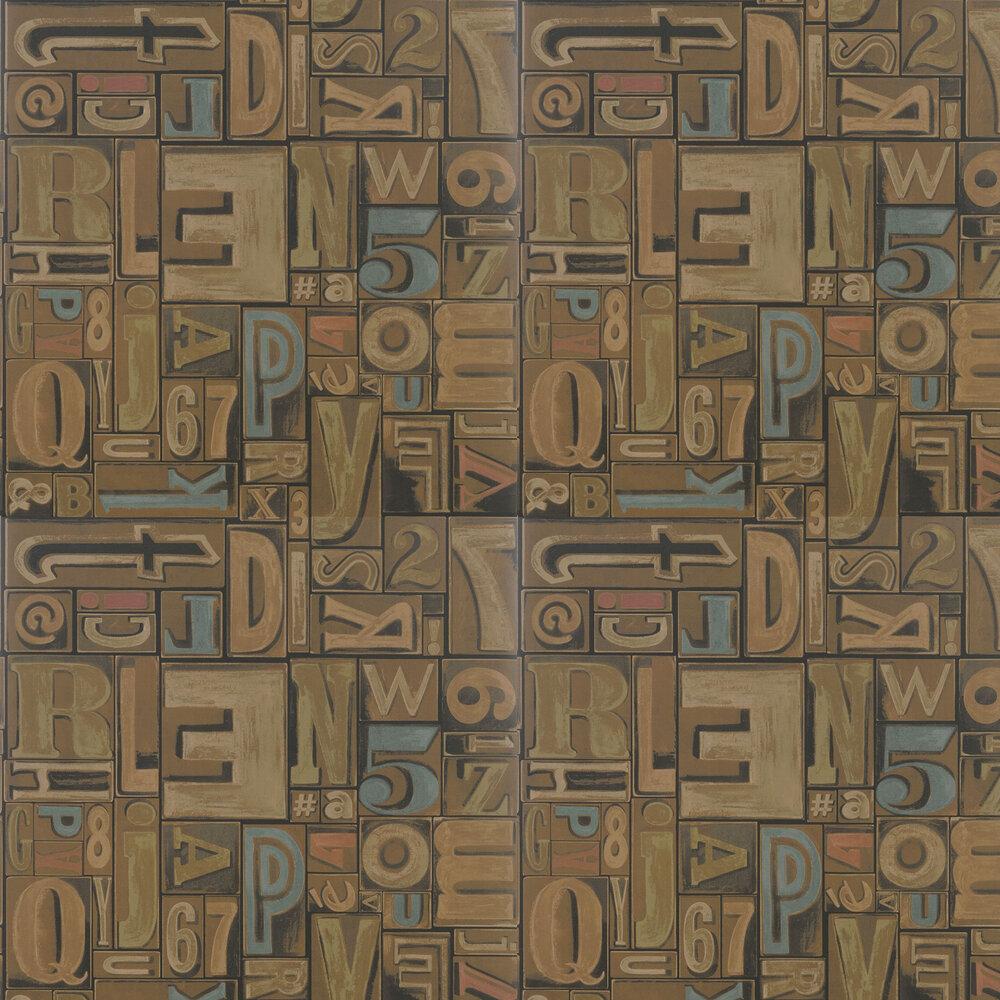 Ralph Lauren Copeley Letterpress Fruitwood Wallpaper - Product code: PRL5007/01