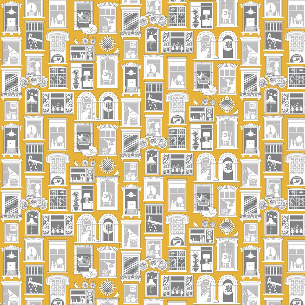 Mini Moderns One Day Mustard Wallpaper - Product code: AZDPT028MU