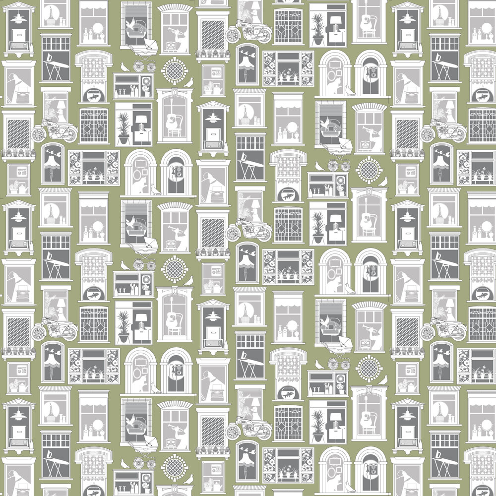 Mini Moderns One Day British Lichen Wallpaper - Product code: AZDPT028BL
