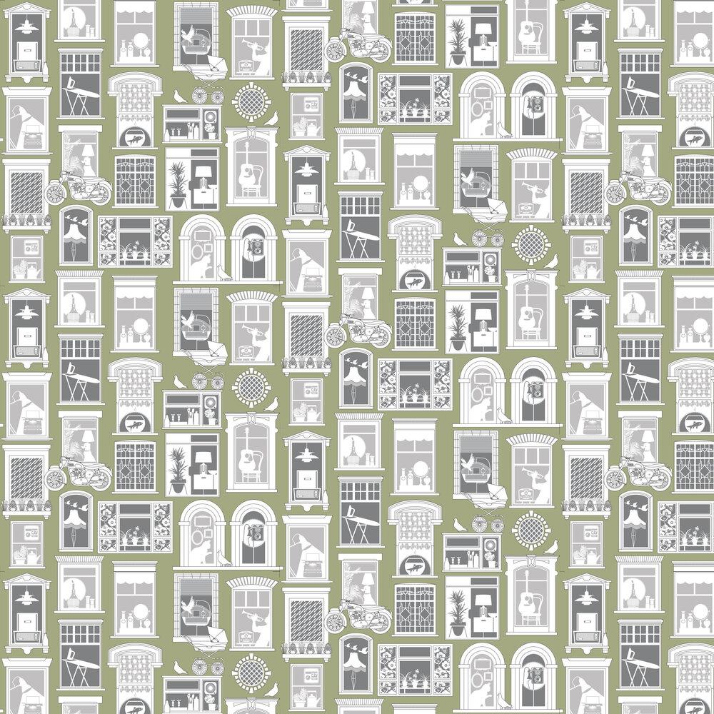 One Day Wallpaper - British Lichen - by Mini Moderns