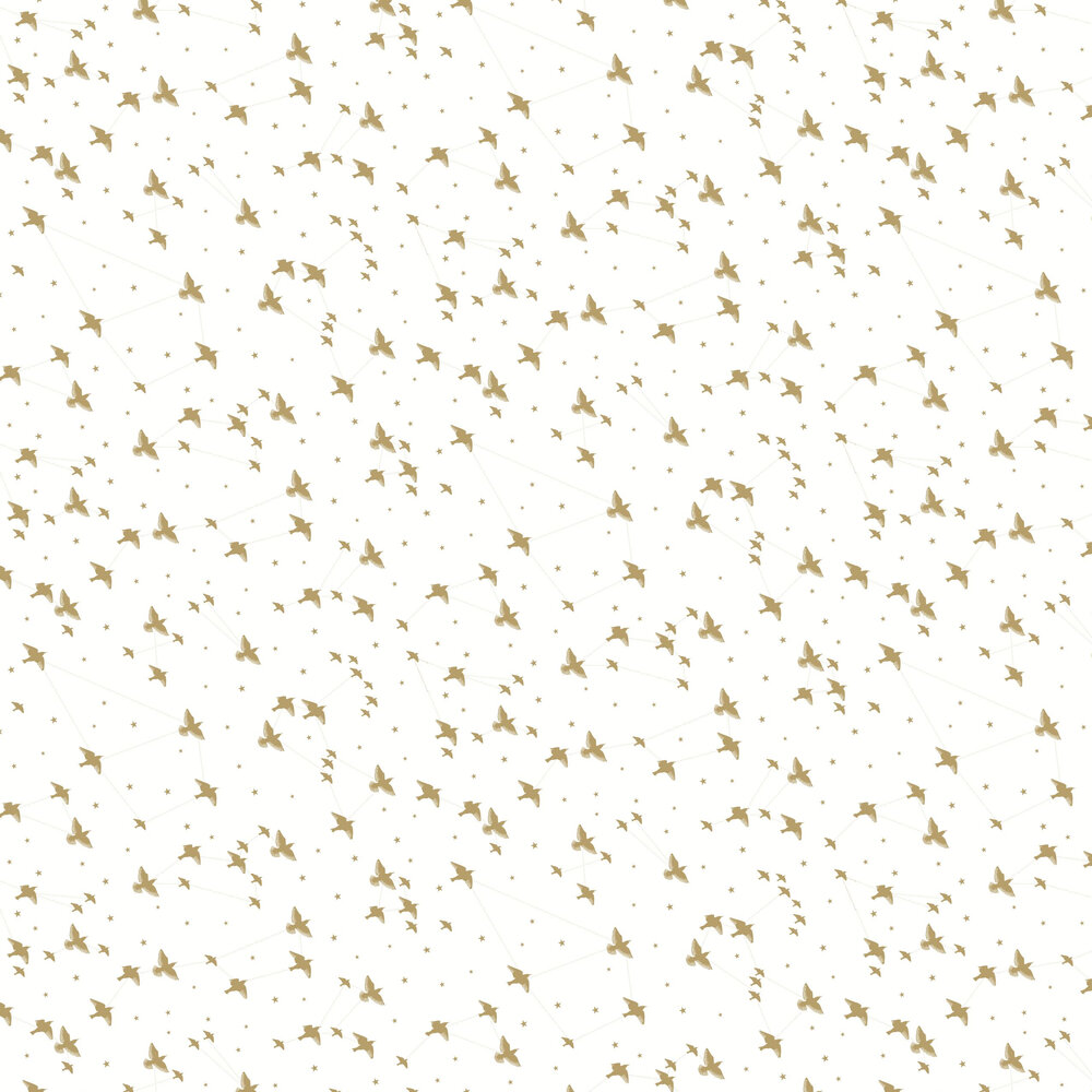 Star-ling Wallpaper - Snow and Gold - by Mini Moderns