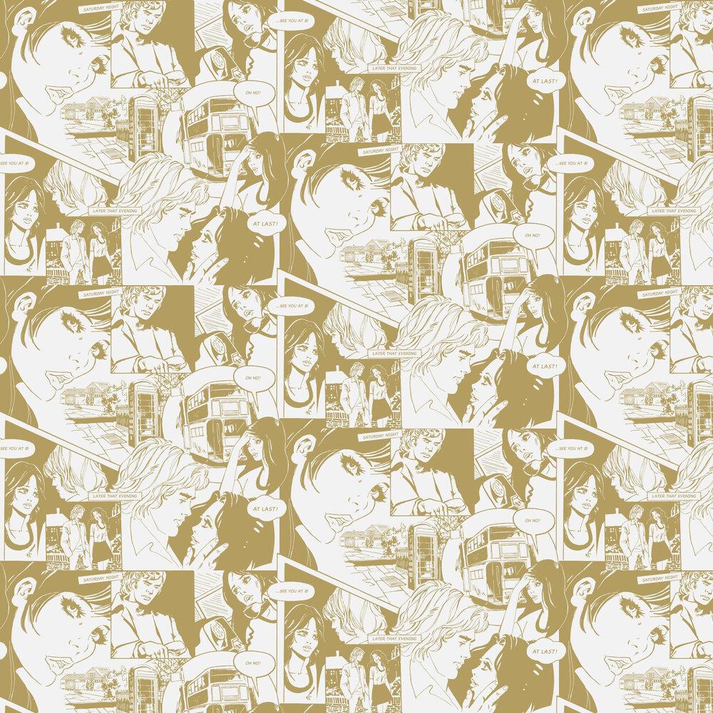 Mini Moderns True Romance Snow and Gold Wallpaper - Product code: AZDPT031SN