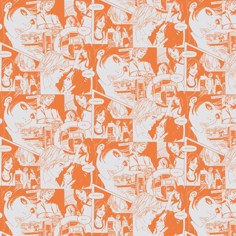 Mini Moderns True Romance Tangerine Dream Wallpaper - Product code: AZDPT031TD
