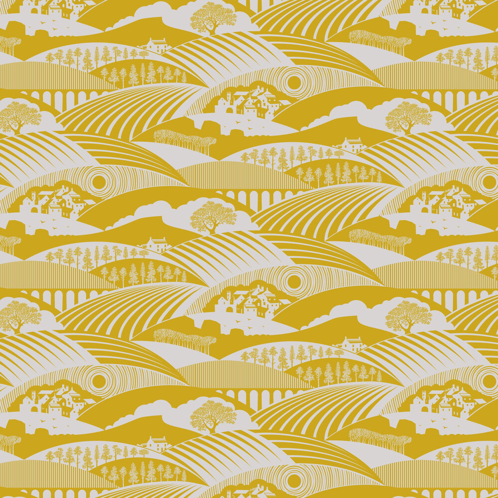 Moordale Wallpaper - Mustard - by Mini Moderns