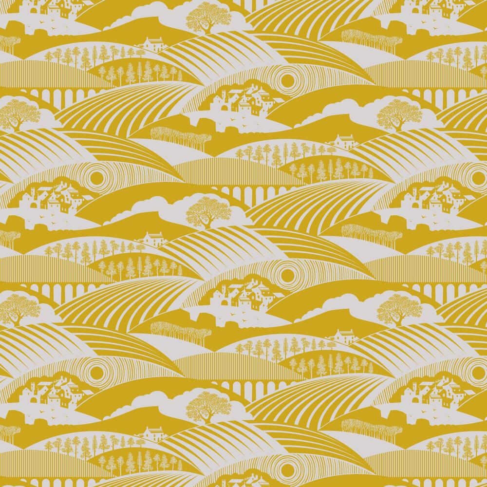 Moordale Wallpaper - Mustard - by Mini Moderns