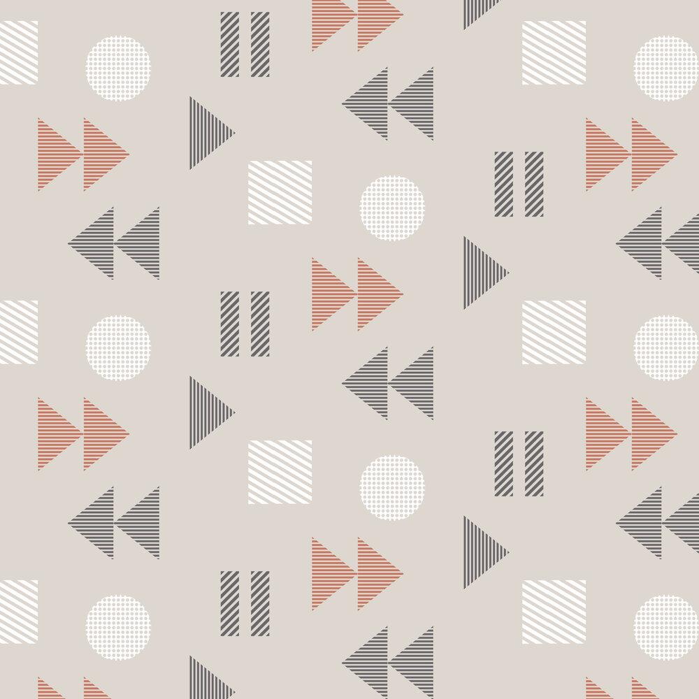 Mini Moderns Play/Record Harvest Orange Wallpaper - Product code: AZDPT036HO