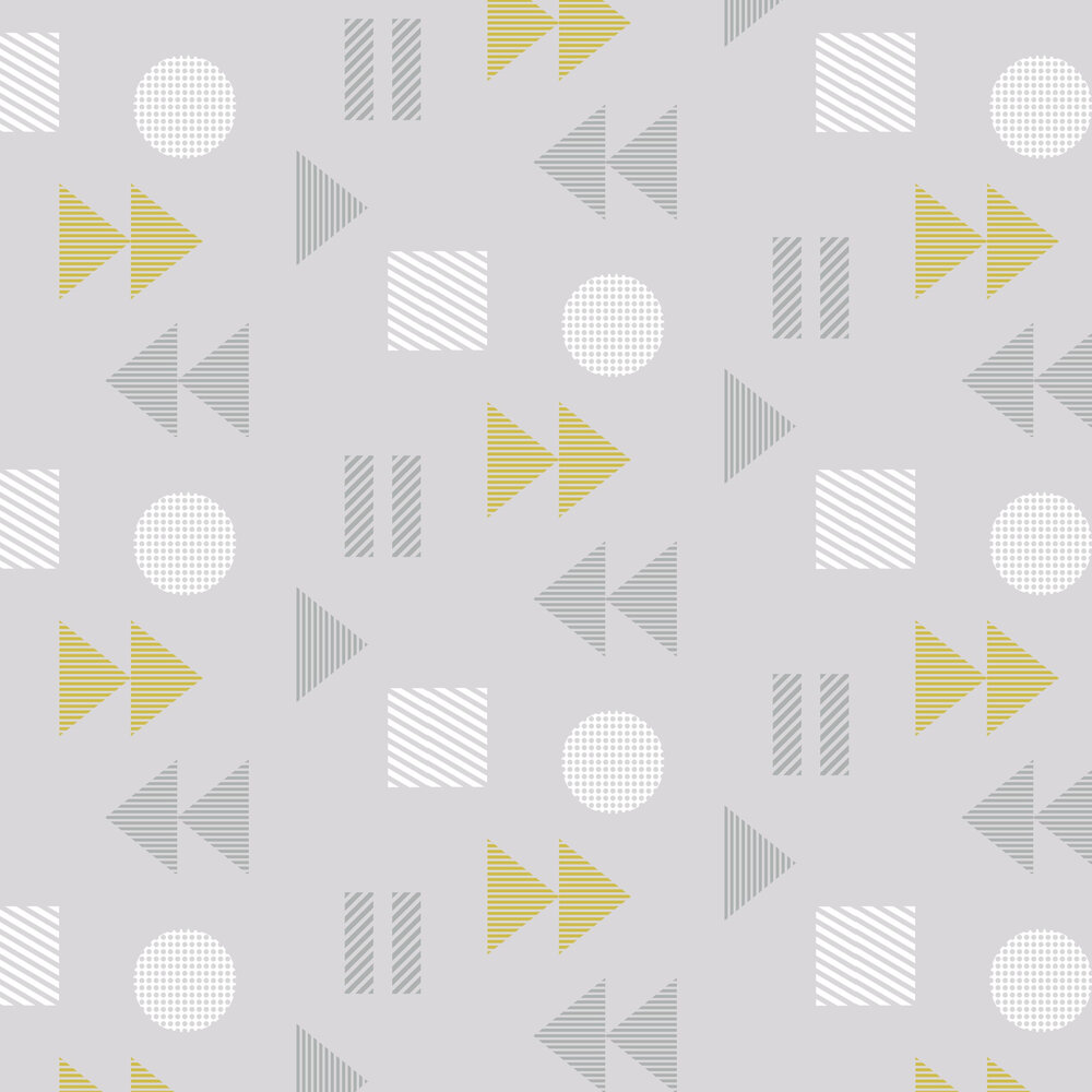 Mini Moderns Play/Record Mustard Wallpaper - Product code: AZDPT036MU