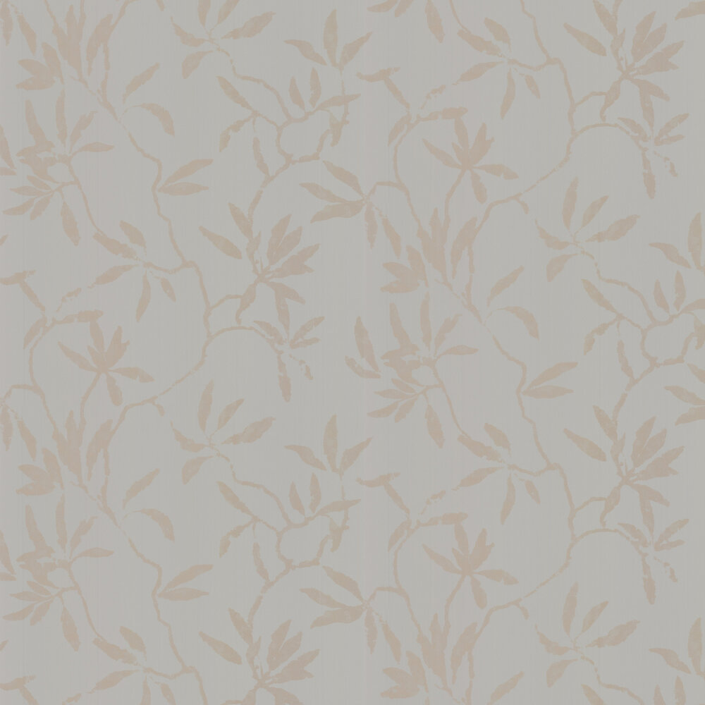 Sefina Wallpaper - Silver Blue - by Romo