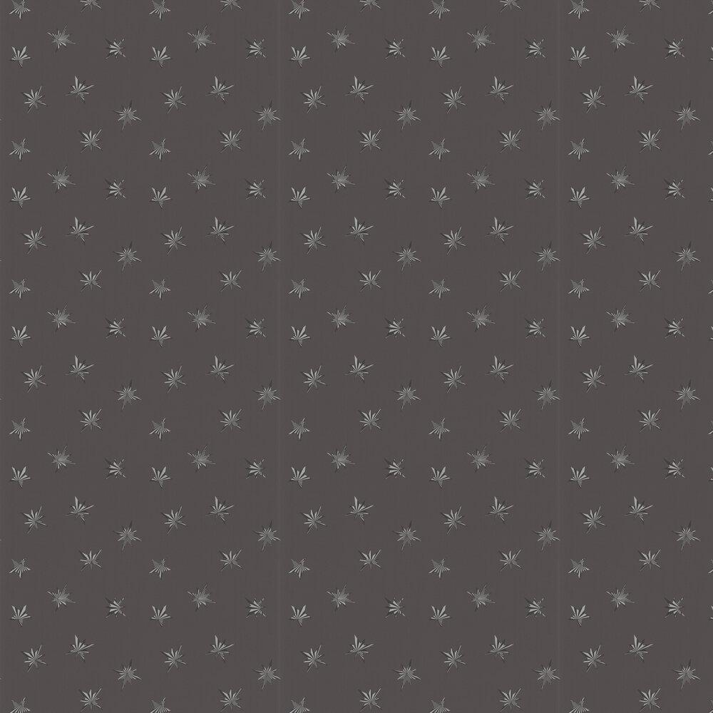 Sirius Wallpaper - Charcoal - by Matthew Williamson