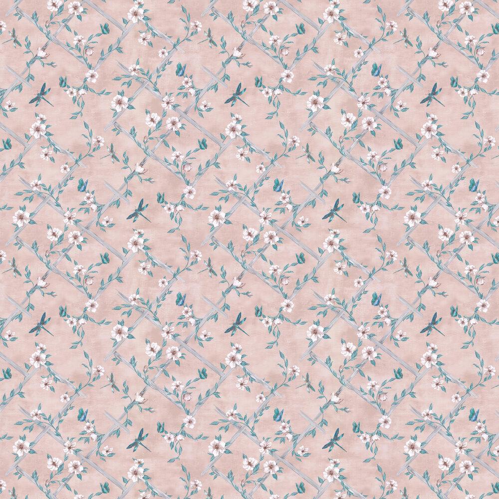 Rosanna Trellis Wallpaper - Blush - by Matthew Williamson