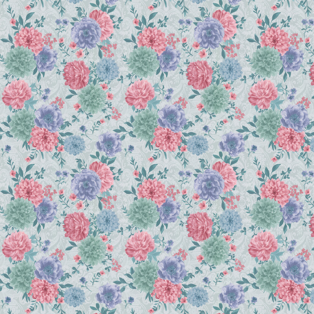Duchess Garden Wallpaper - Ice - by Matthew Williamson