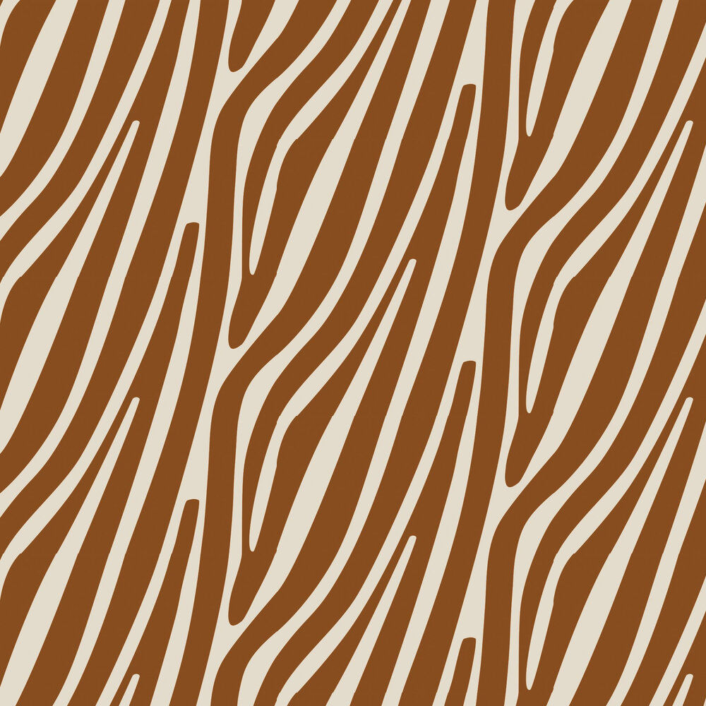 Damara Wallpaper - Copper - by Wemyss