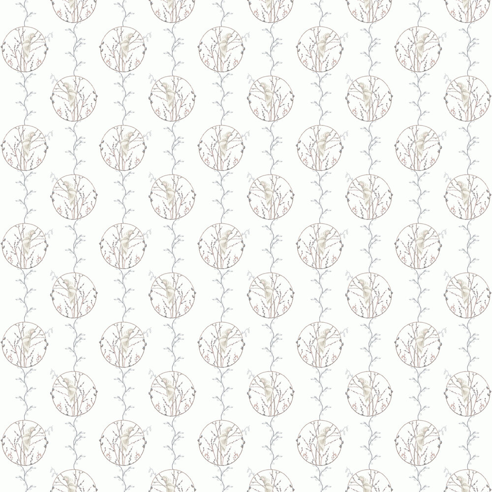 Boråstapeter Vide Willow White Wallpaper - Product code: 6231