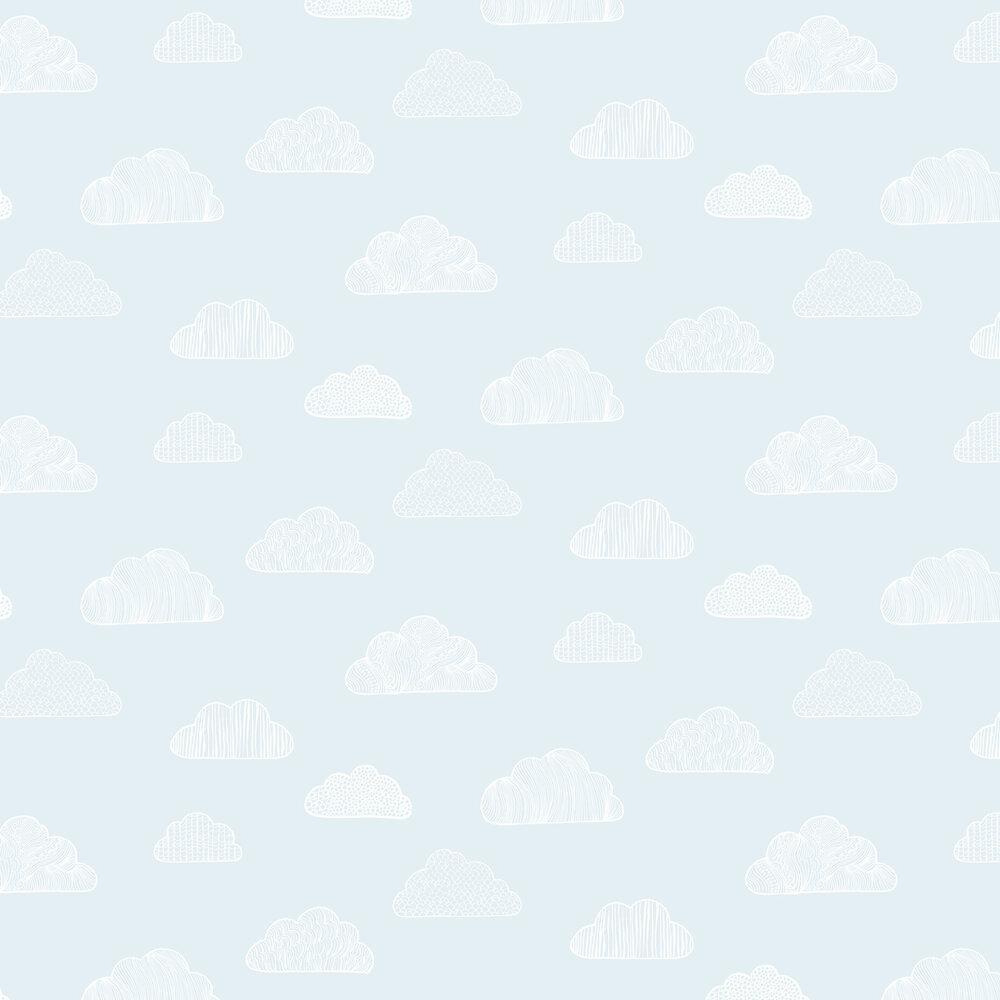 Claudia Wallpaper - Sky Blue - by Boråstapeter