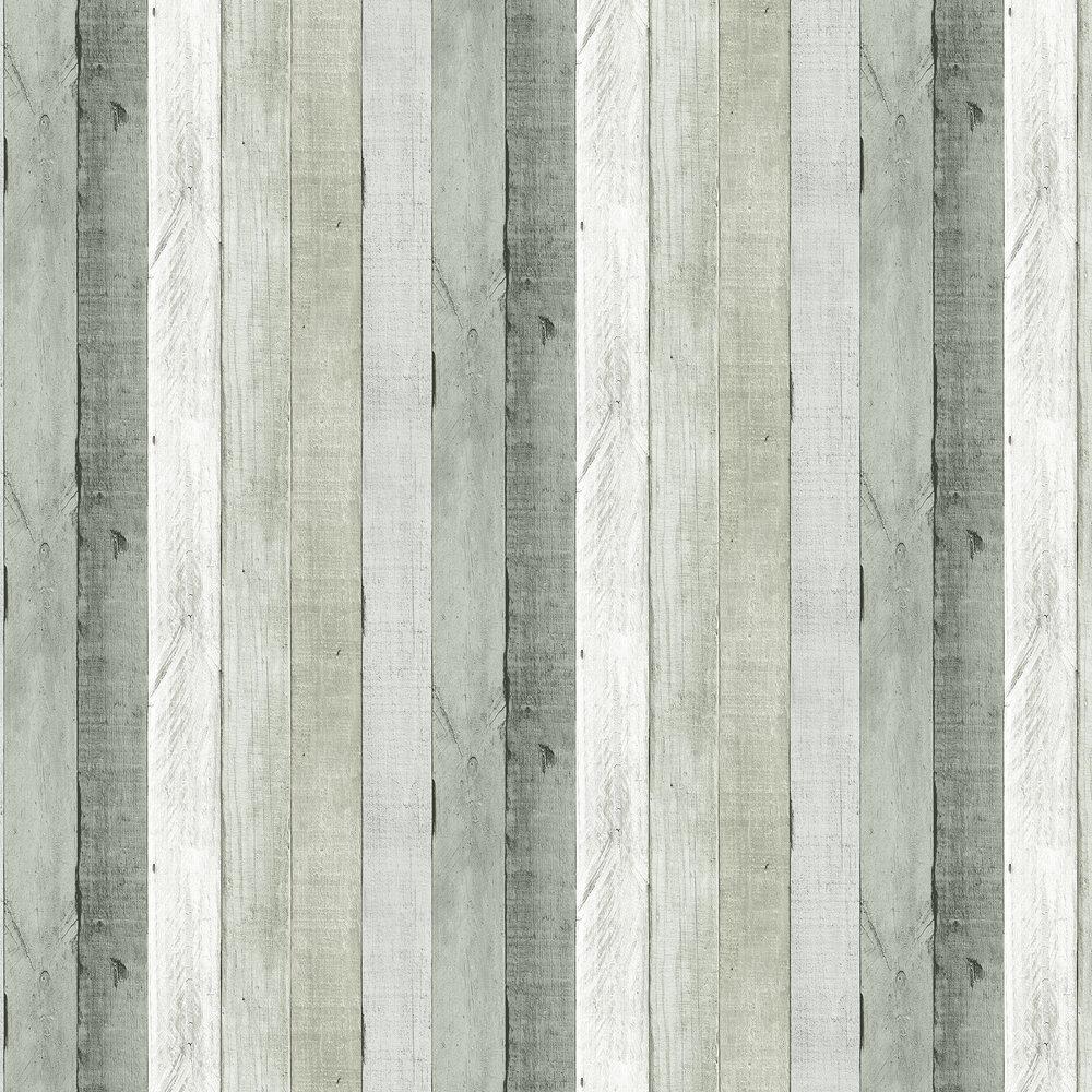 Wooden Panel Wallpaper - Silver - by Wemyss