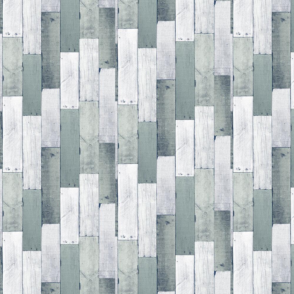 Wooden Wall Wallpaper - Pewter - by Wemyss