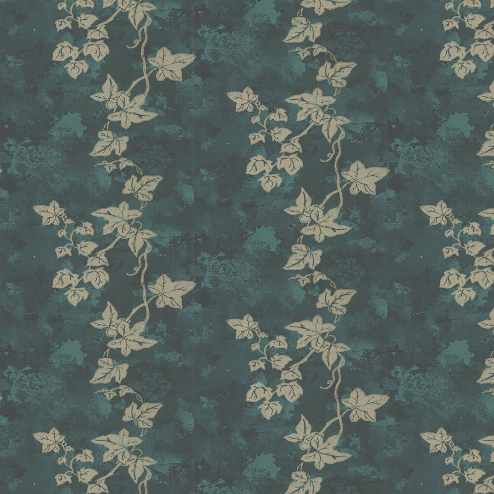Ivy Wallpaper - Deep Green - by Barneby Gates