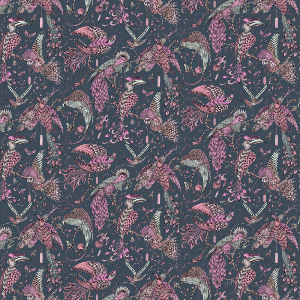 Audubon Wallpaper - Pink - by Emma J Shipley