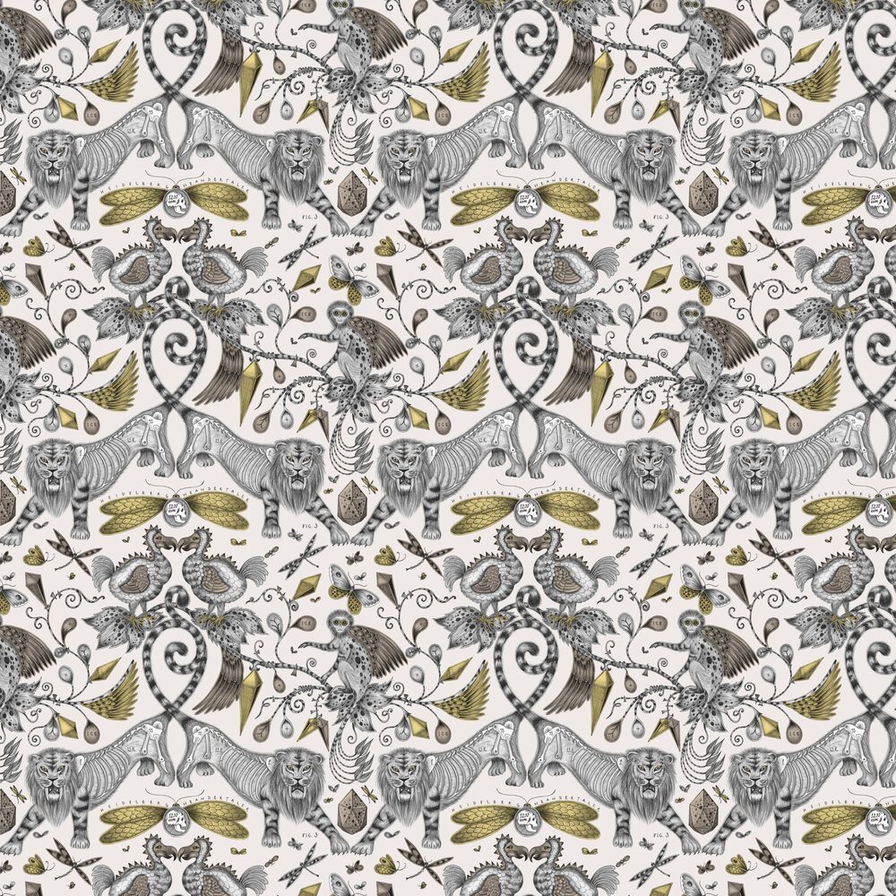Extinct Wallpaper - Gold - by Emma J Shipley