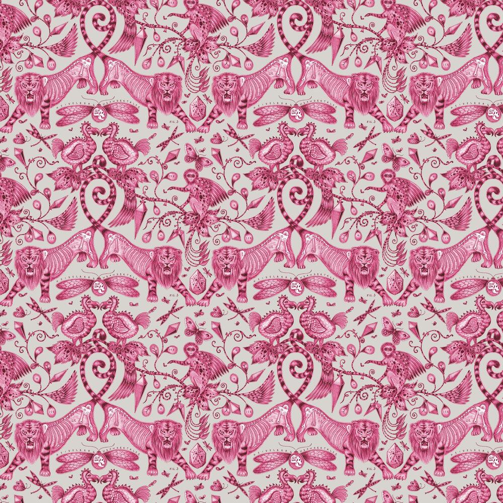 Extinct Wallpaper - Magenta - by Emma J Shipley