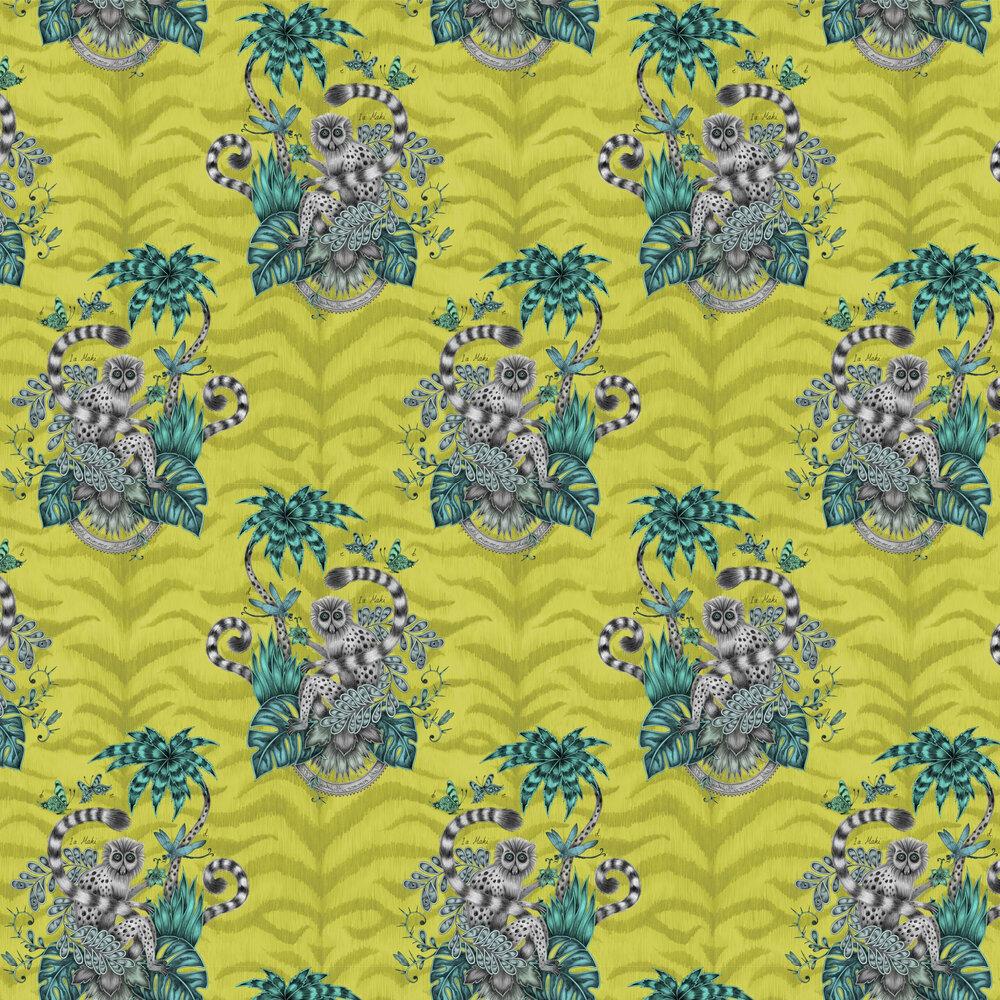 Emma J Shipley Lemur Lime Wallpaper - Product code: W0103/02