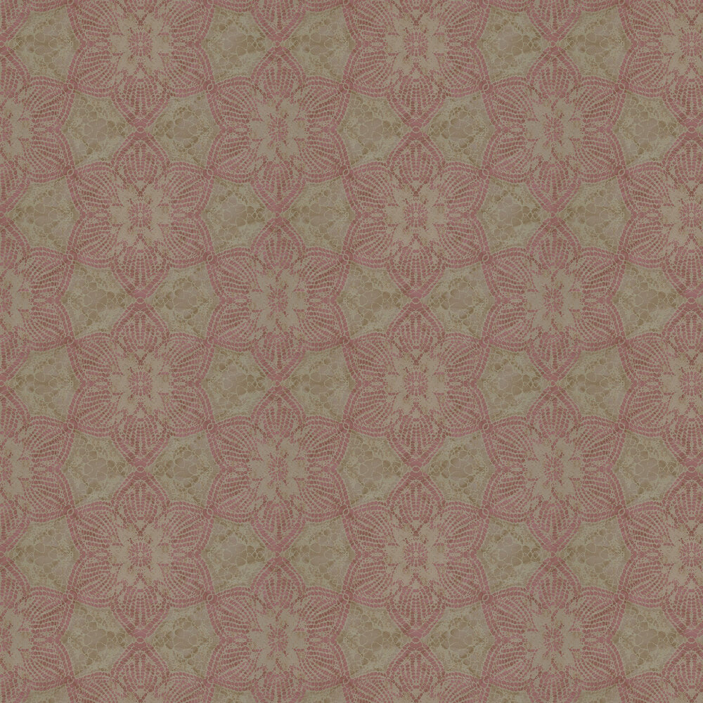 Mosaic Star Wallpaper - Pink - by Eijffinger