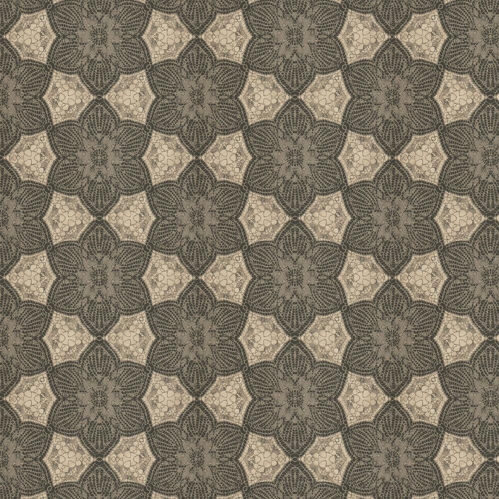 Mosaic Star Wallpaper - Black - by Eijffinger