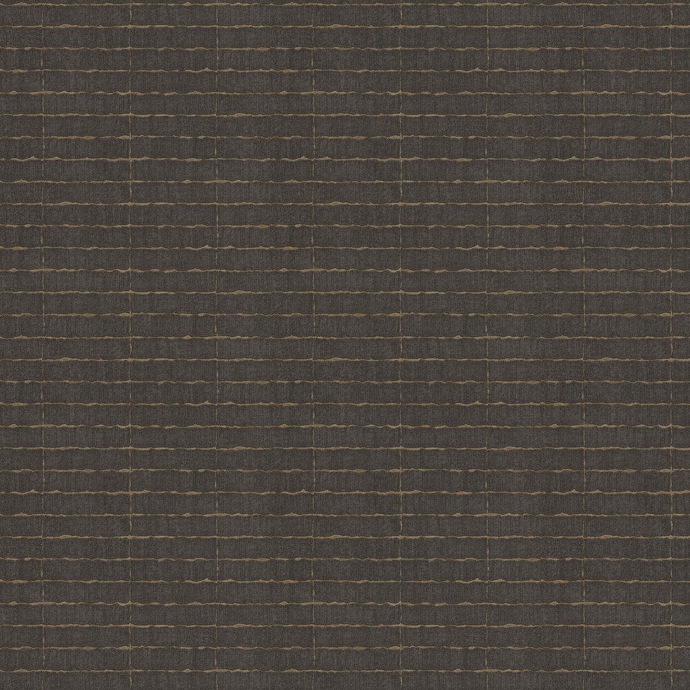 Distressed Tile Wallpaper - Brown - by Eijffinger